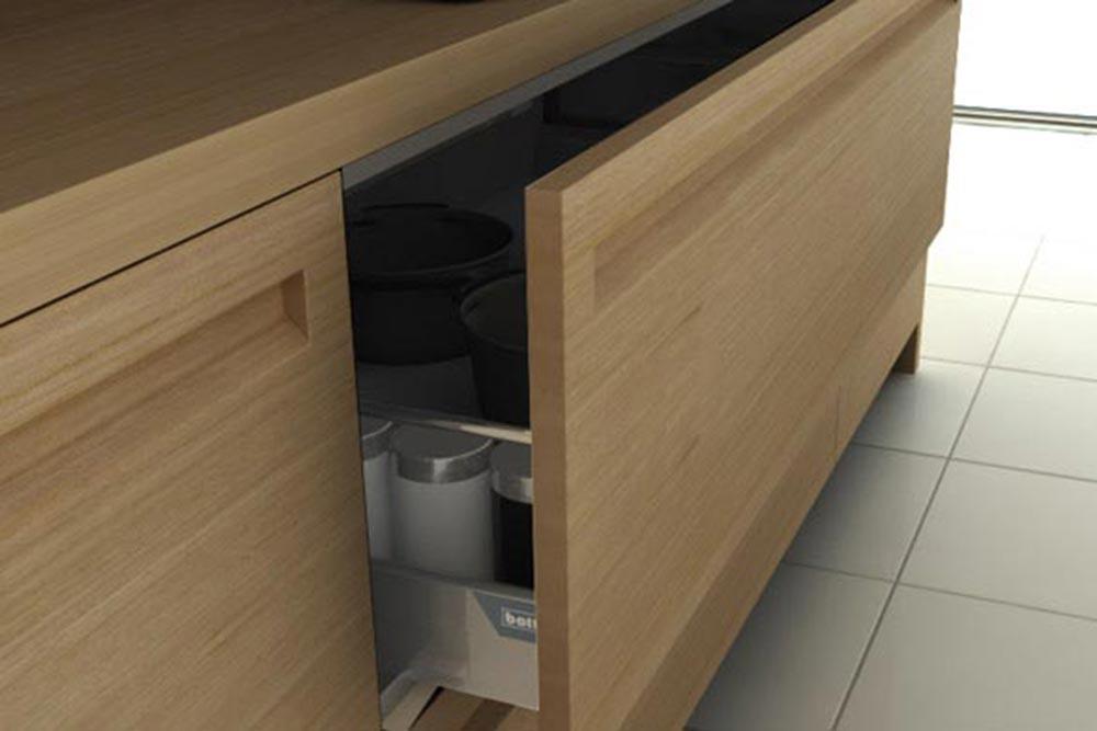 Mueble de cocina de madera minimalista