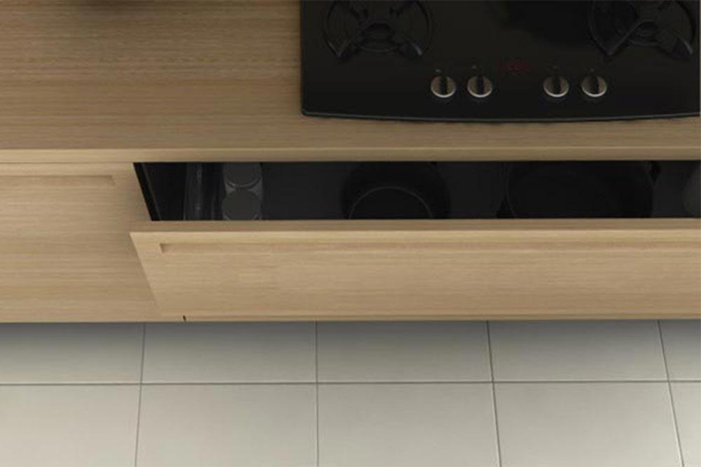 Cajón de mueble de cocina moderna de madera linea Geo