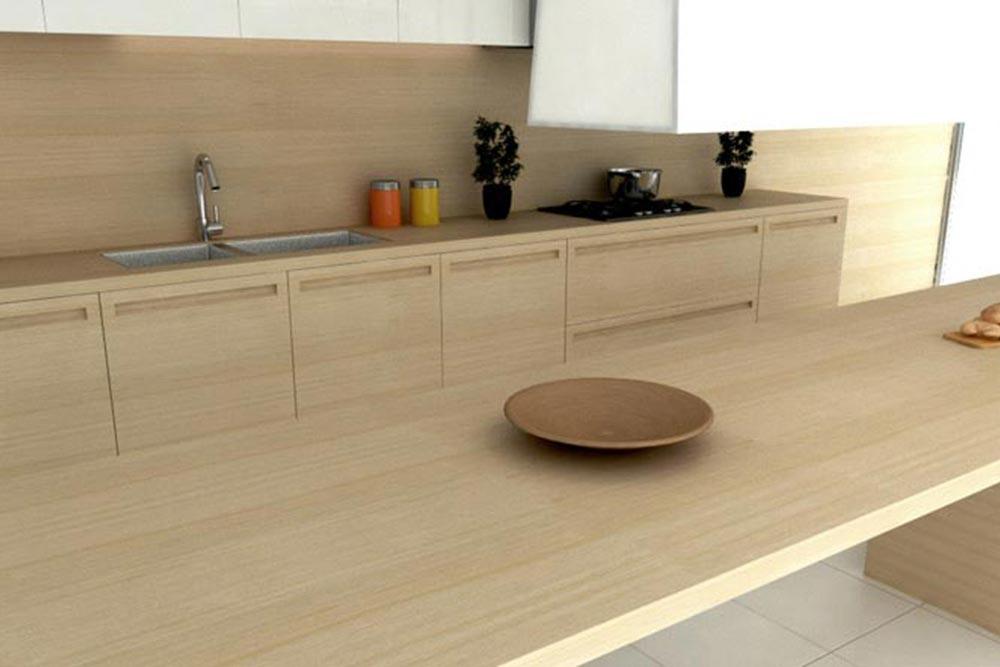 Desayunador de cocina moderna de madera linea Geo