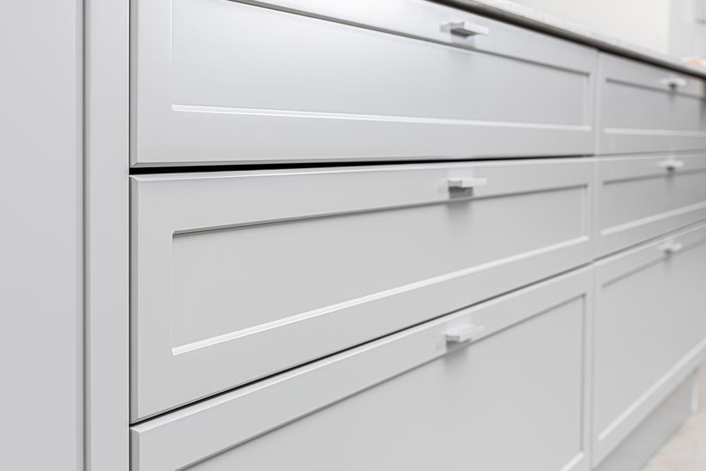 Cajones de mueble de cocina gris clasica moderna linea Neo