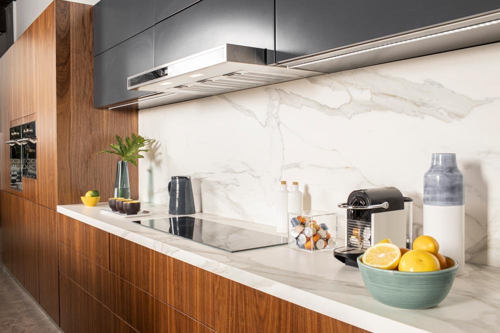 Mueble de cocina de diseño con cajones extraibles
