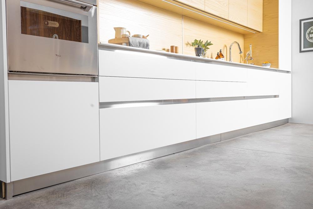 Muebles de cocina blanca moderna de la línea Zen